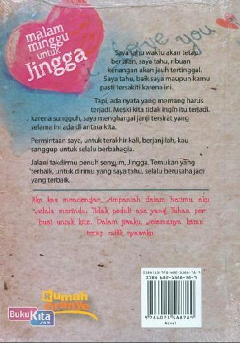 Cover Belakang Buku Malam Minggu untuk Jingga