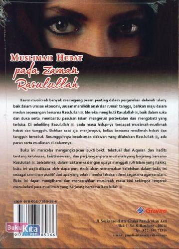 Cover Belakang Buku Muslimah Hebat Pada Zaman Rasulullah