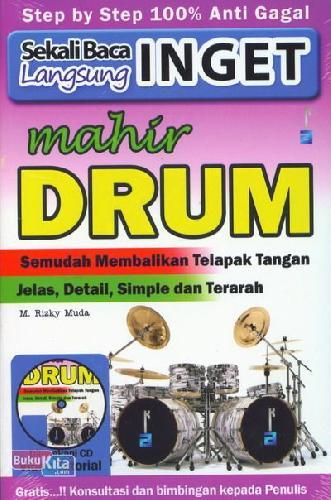 Cover Buku Sekali Baca Langsung Inget Mahir Drum