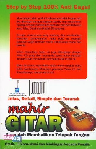Cover Belakang Buku Sekali Baca Langsung Inget Mahir Gitar