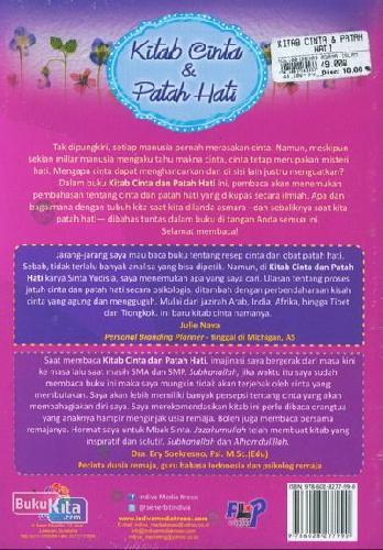Cover Belakang Buku Kitab Cinta & Patah Hati