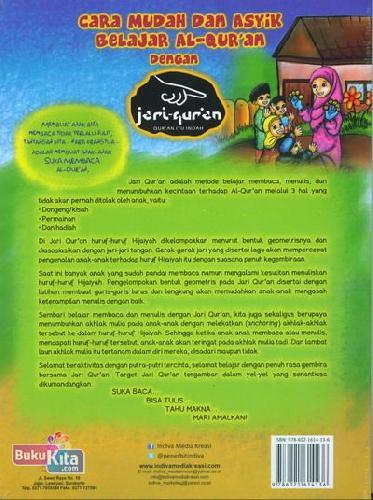 Cover Belakang Buku Cara Mudah dan Asyik Belajar AL-Qur'an dengan Jari Qur'an