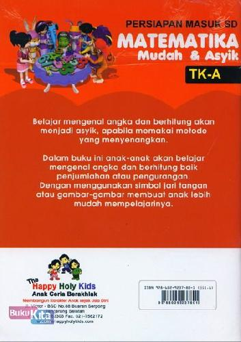 Cover Belakang Buku Matematika Mudah & Asyik TK-A