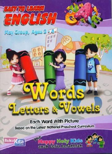 Cover Buku Easy To Learn English Play Group, Ages 3-4
