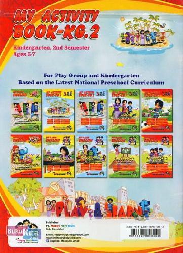 Cover Belakang Buku My Activity Book-KG.2 Kindergarten, 2nd Semester Ages 5-7