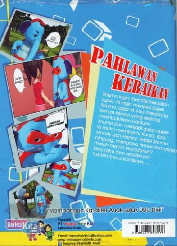 Cover Belakang Buku Pahlawan Kebaikan (Komik Karya Anak Bangsa) Full 3D