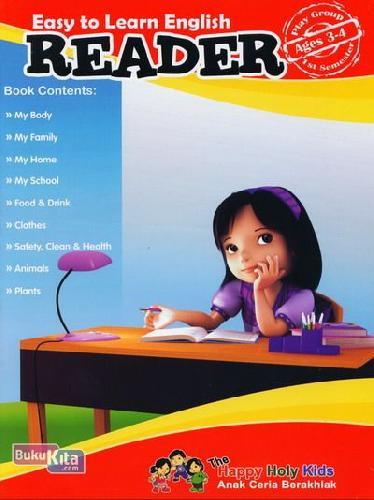 Cover Buku Easy to Learn English Reader Ages 3-4