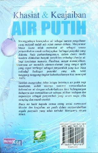 Cover Belakang Buku Khasiat dan Keajaiban Air Putih Aman & Tanpa Efek Samping