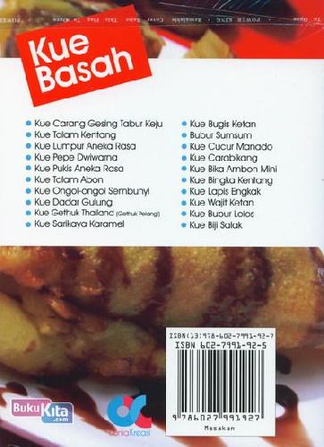Cover Belakang Buku Kue Basah Paling Favorit (Full Color)