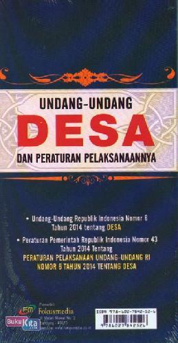Cover Belakang Buku Undang-Undang Desa dan Peraturan Pelaksanaannya