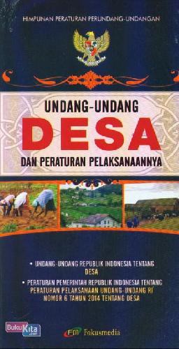 Cover Buku Undang-Undang Desa dan Peraturan Pelaksanaannya