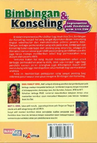 Cover Belakang Buku Bimbingan dan Konseling Implementasi pada PAUD