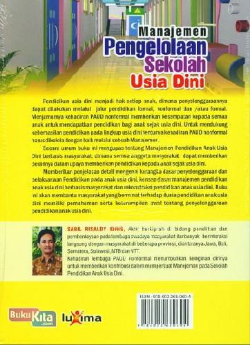 Cover Belakang Buku Manajemen Pengelolaan Sekolah Usia Dini