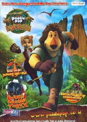 Cover Belakang Buku Activity Book - Buku Petualangan Paddle Pop Dinoterra