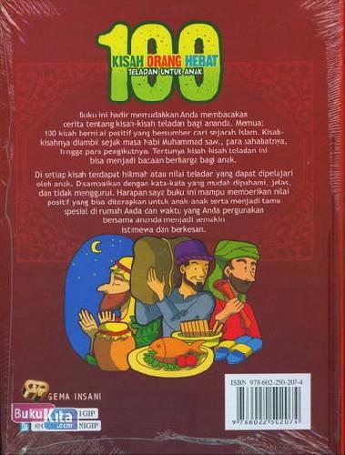 Cover Belakang Buku 100 Kisah Orang Hebat Teladan Untuk Anak
