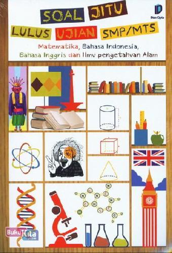 Cover Buku Soal Jitu Lulus Ujian SMP/MTS - Matematika, Bahasa Indonesia, Bahasa Inggris dan Ilmu Pengetahuan Alam