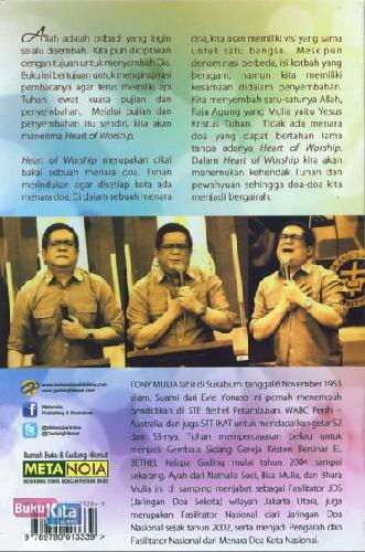Cover Belakang Buku The Heart of Worship