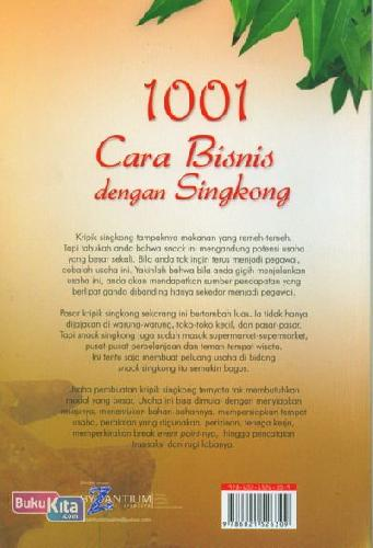 Cover Belakang Buku 1001 Cara Bisnis dengan Singkong (Dilengkapi dengan Perhitungan Bisnis dan Resep)