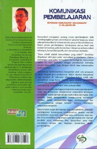 Cover Belakang Buku Komunikasi Pembelajaran (Interaksi Komunikatif dan Edukatif di Dalam Kelas)
