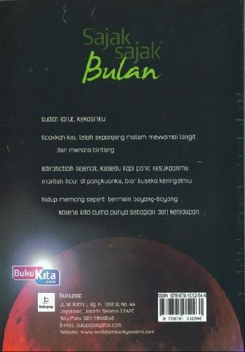 Cover Belakang Buku Sajak-Sajak Bulan