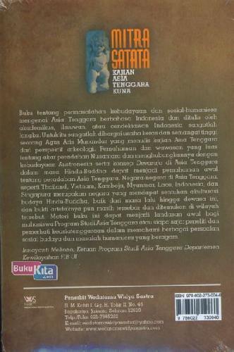 Cover Belakang Buku Mitra Satata : Kajian Asia Tenggara Kuna