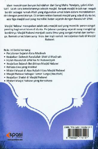 Cover Belakang Buku Keajaiban Masjid Nabawi