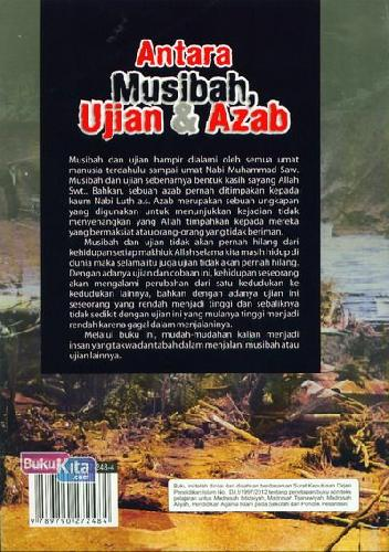 Cover Belakang Buku Antara Musibah. Ujian dan Azab