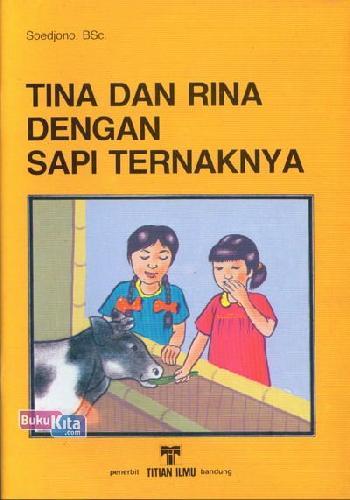 Cover Buku Tina dan Rina Dengan Sapi Ternaknya