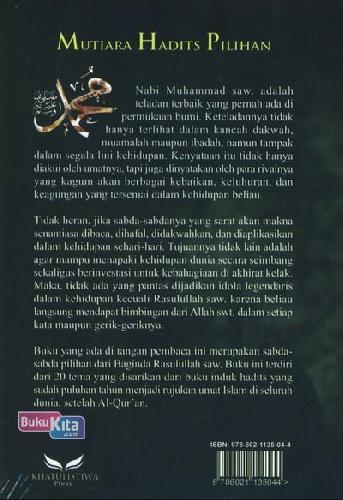 Cover Belakang Buku Mutiara Hadits Pilihan