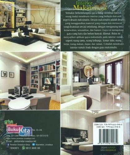 Cover Belakang Buku Desain Interior Gaya Maksimalis