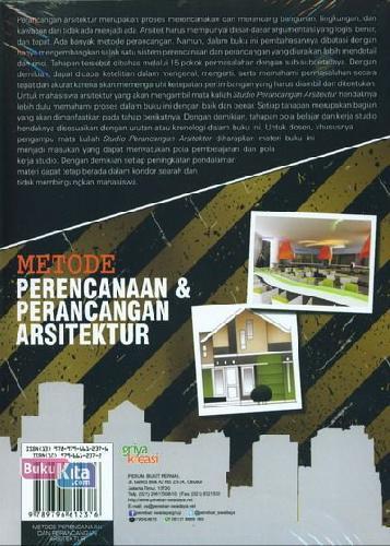 Cover Belakang Buku Metode Perencanaan & Perancangan Arsitektur
