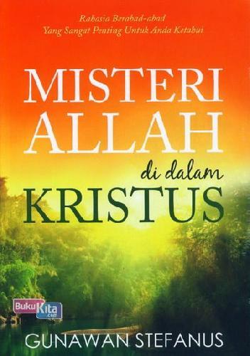 Cover Buku Misteri Allah di dalam Kristus