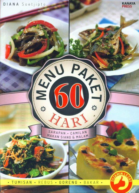 Cover Buku Menu Paket 60 Hari Sarapan Camilan Makan Siang & Malam