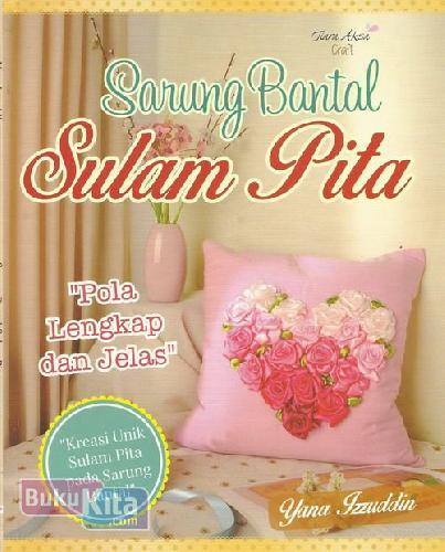 Cover Buku Sarung Bantal Sulam Pita