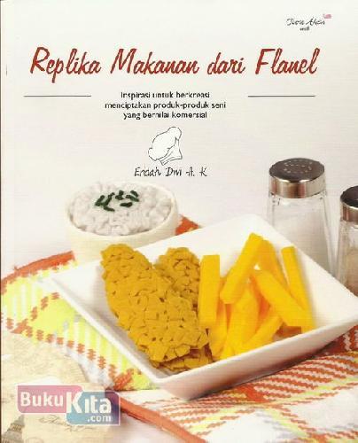 Cover Buku Replika Makanan Dari Flanel