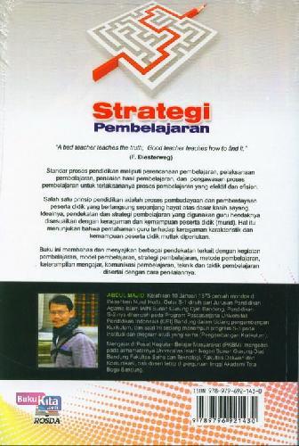 Cover Belakang Buku Strategi Pembelajaran