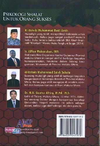 Cover Belakang Buku Psikologi Shalat Untuk Orang Sukses