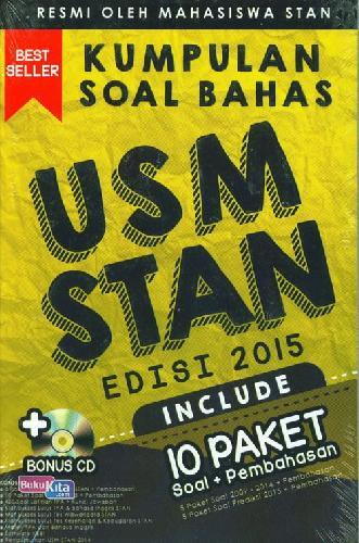 Cover Buku Kumpulan Soal Bahas USM STAN Edisi 2015 ( Include 10 paket Soal + pembahasan + Bonus CD )