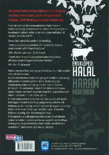 Cover Belakang Buku Ensiklopedi Halal Haram Makanan