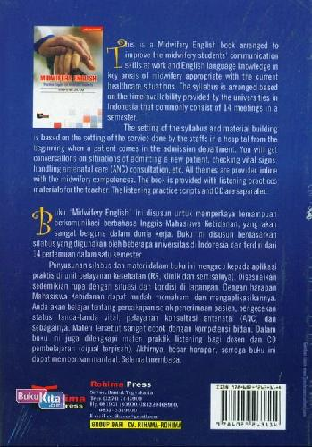 Cover Belakang Buku Midwifery English: Pratical English For Midwifery Students