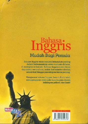 Cover Belakang Buku Bahasa Inggris Mudah Bagi Pemula