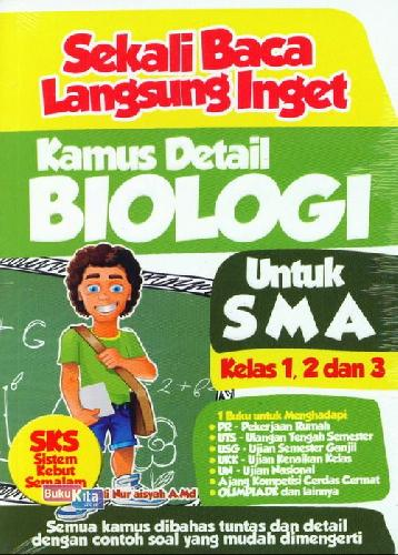 Cover Buku Sekali Baca Langsung Inget Kamus Detail Biologi Untuk SMA Kl 1,2 & 3
