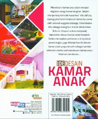 Cover Belakang Buku Ide Desain Kamar Anak