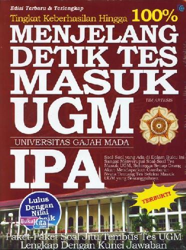 Cover Buku Menjelang Detik Tes Masuk Ugm Ipa
