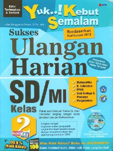 Cover Buku SD/Mi Kl 2 Yuk Kebut Semalam Sukses Ulangan Harian+Cd