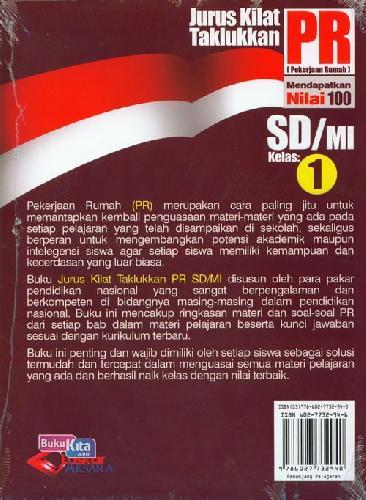 Cover Belakang Buku SD/Mi Kl 1 Jurus Kilat Taklukkan Pr Edisi Terbaru&Terlengkap