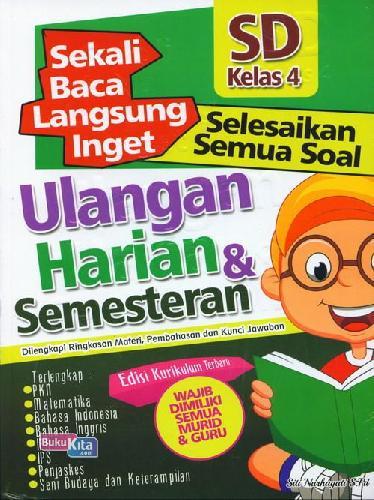 Cover Buku SD Kl 4 Sekali Baca Langsung Inget Ulangan Harian&Semesteran