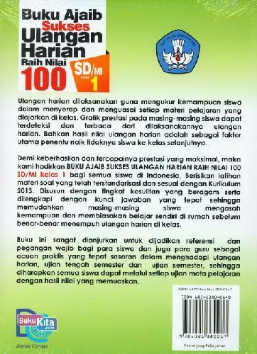 Cover Belakang Buku SD/Mi Kl 1 Buku Ajaib Sukses Ulangan Harian