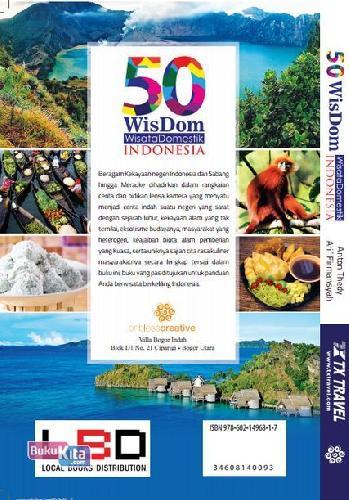 Cover Belakang Buku 50 Wisdom Wisata Domestik Indonesia (Full Color)