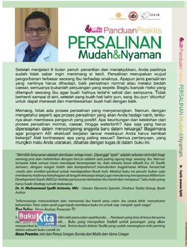 Cover Belakang Buku Seri ibu sehat : Panduan Praktis Persalinan Mudah & Nyaman